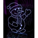 """Фигура """"Снеговик"""" с подсветкой."""