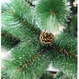 Сосна 90 см зелёная со снегом/ шишками