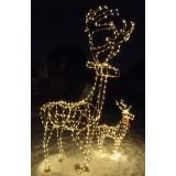 Световые фигуры, деревья, снеговики