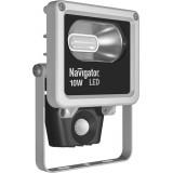 Прожектор Navigator NFL-M-10-4K-SNR-LED (cерый, 4000K, 600Лм, датчик)
