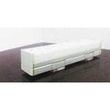 Накладной профиль с прямоугольным пластиком ARC004 2000х17х19.6мм
