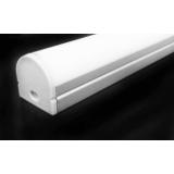 Накладной профиль с прямоугольным пластиком ARC005 2000х17х19.6мм