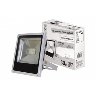 Прожектор TDM Народный СДО30-2-Н (30W LED, IP65, 6500К, 2400Лм)